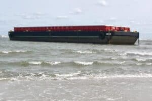 Barge Stuck On The N. Wildwood Beach