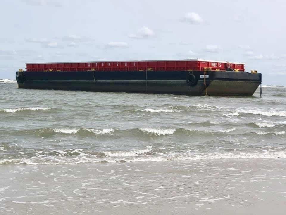Barge Stuck On The N. Wildwood Beach