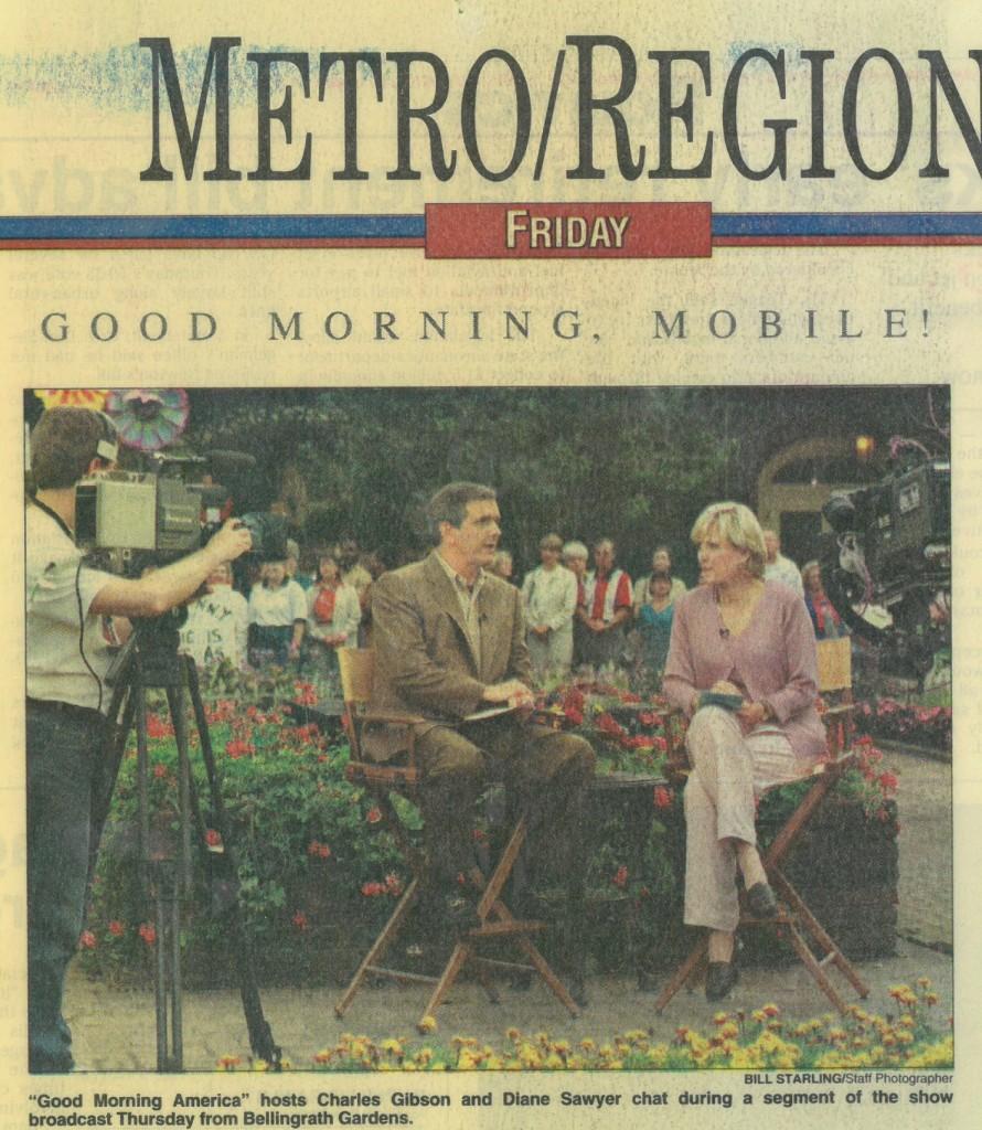 """Good Morning America"" At Bellingrath"