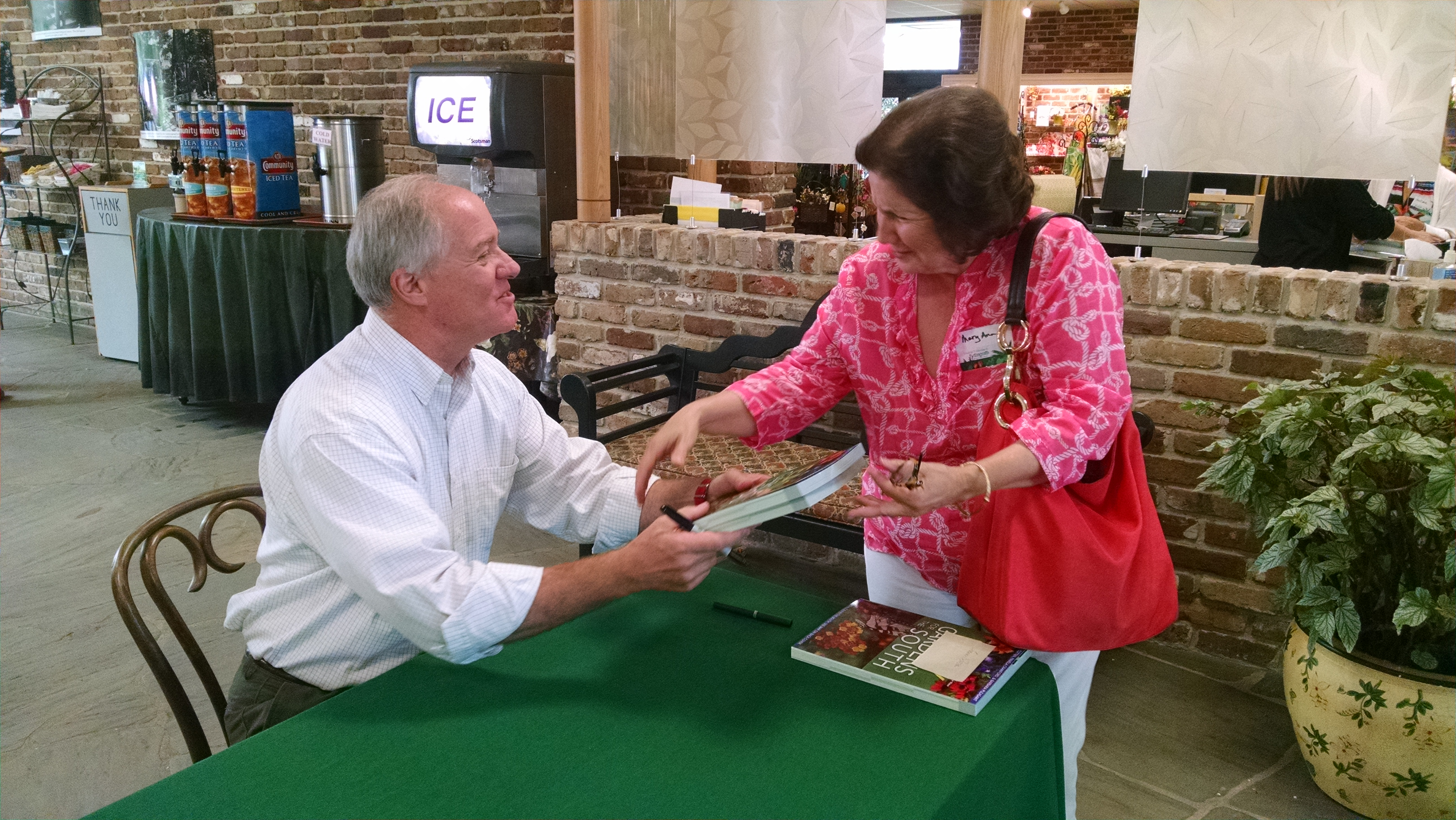 """Horticulturist Harvey Cotten signed copies of his book, """"Easy Gardens for the South,"""" after his Wonderful Wednesday presentation at Bellingrath Gardens and Home on July 15."""