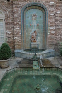 The courtyard fountain of the Bellingrath Home.