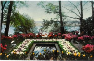 The East Terrace of the Bellingrath Home with its pool and fountain, facing out on the Fowl River.