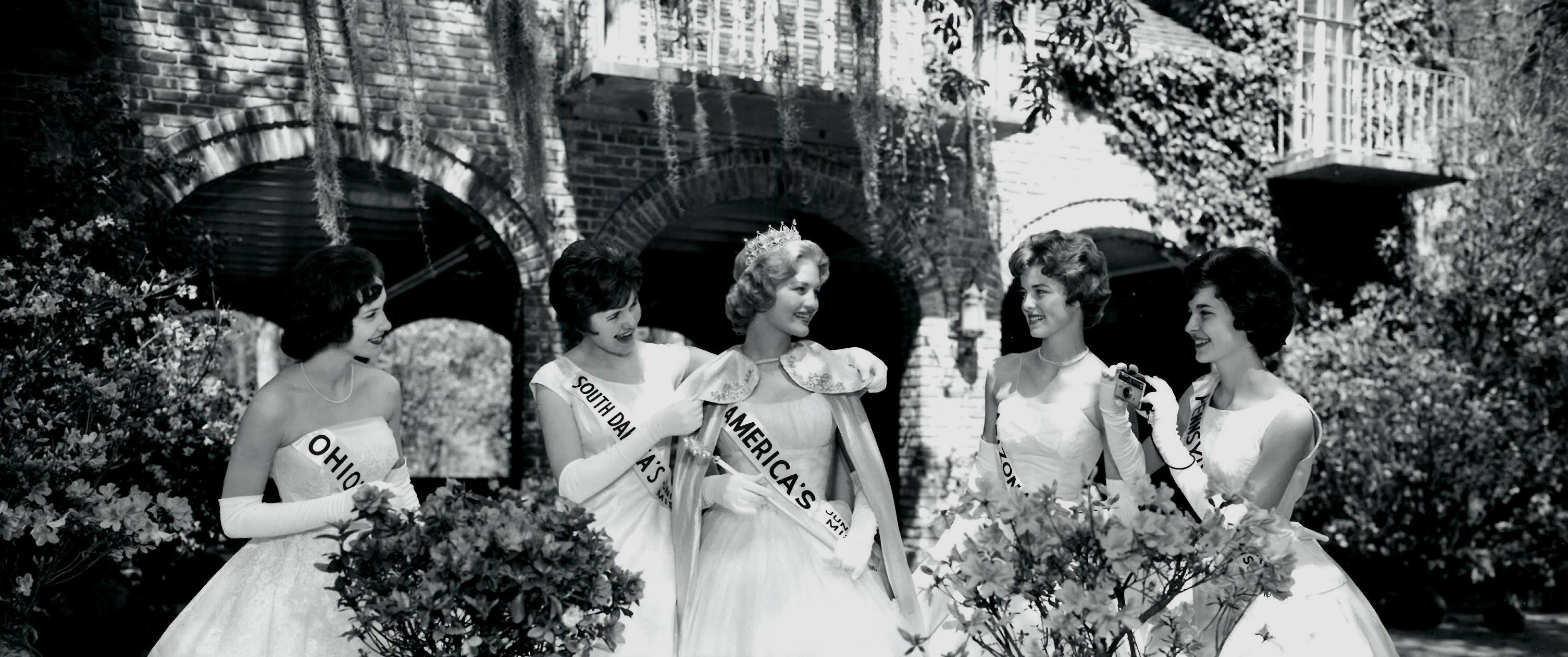 Diane Sawyer, America's Junior Miss 1963, Visits