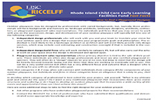 RICCELFF Fast Facts: Outdoor Playspace