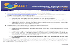 RICCELFF Fast Facts:­ Contractor