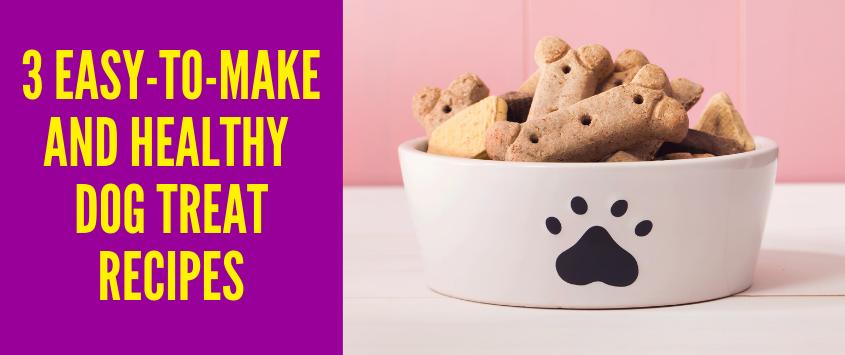 3 Easy-to-Make And Healthy Homemade Dog Treat Recipes