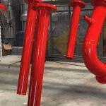 Powder-Coating-Action-Red-Tubes