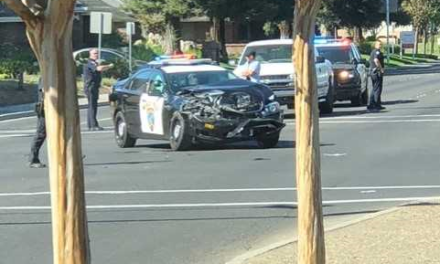 Merced PD vehicle involved in traffic collision