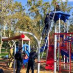 Man found stuck on top of play structure at local Atwater park