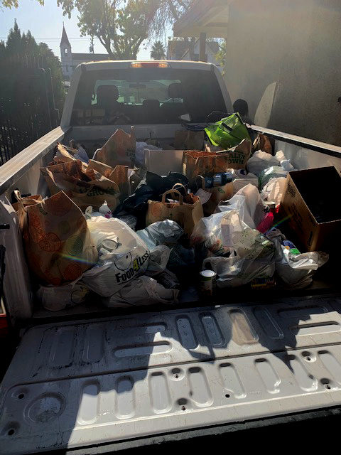 Pacheco High's FFA donates to Los Banos PD's annual food drive