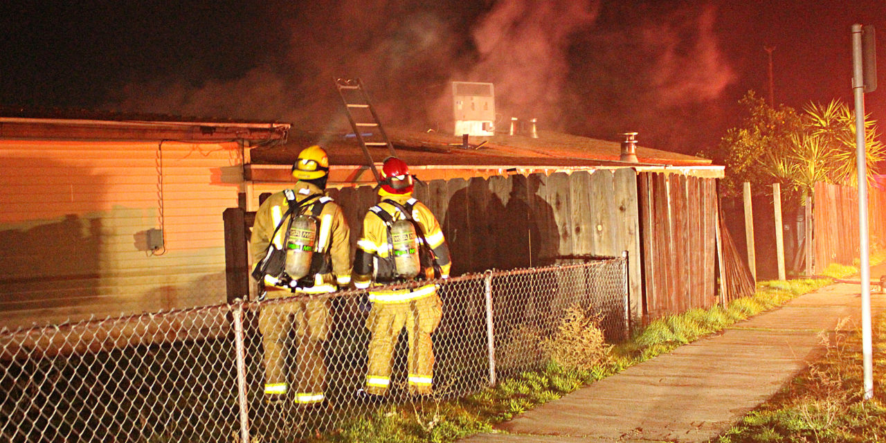 Busy roadway shutdown after structure fire in Atwater