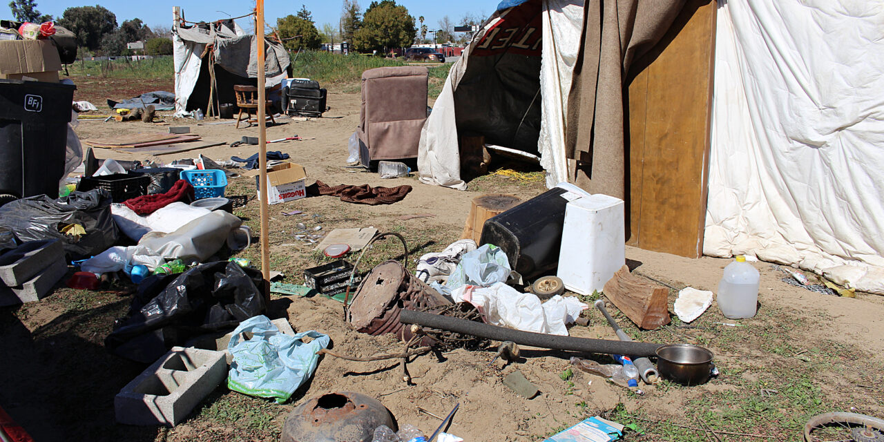 Caltrans removes homeless encampment in Atwater, finds more than 35 tires
