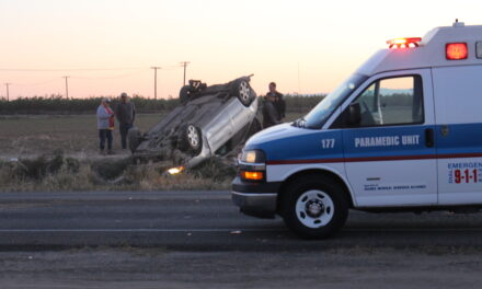 Vehicle overturns on Santa Fe, separate traffic collision occurs moments after