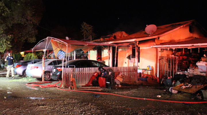Evening fire erupts in Winton, family displaced