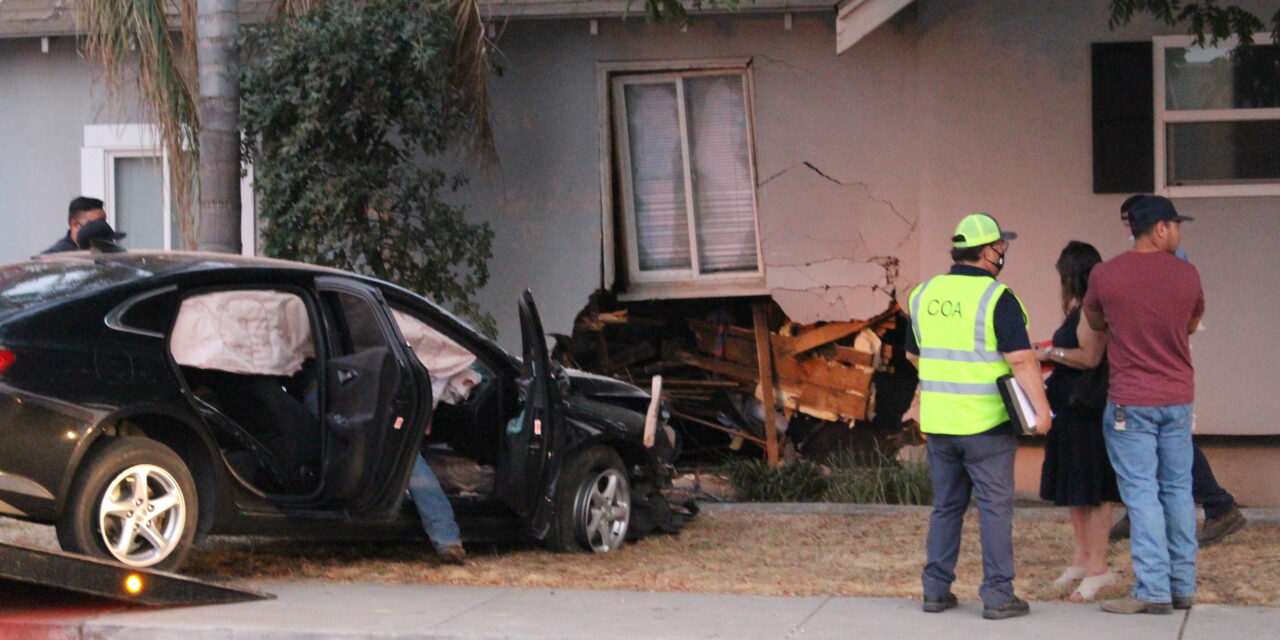 Woman crashes vehicle into Atwater home