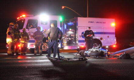 Motorcyclist sustains major injuries at the intersection of Santa Fe and Beachwood