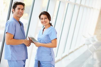 home health care staffs smiling