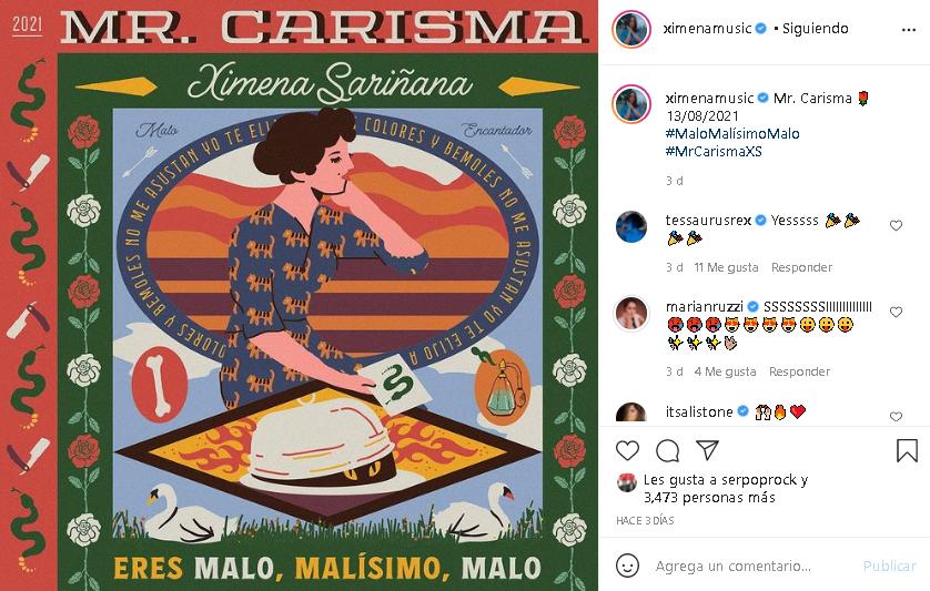 """Ximena Sariñana comparte con fans la portada de su nuevo álbum y sencillo """"Mr. Carisma"""""""