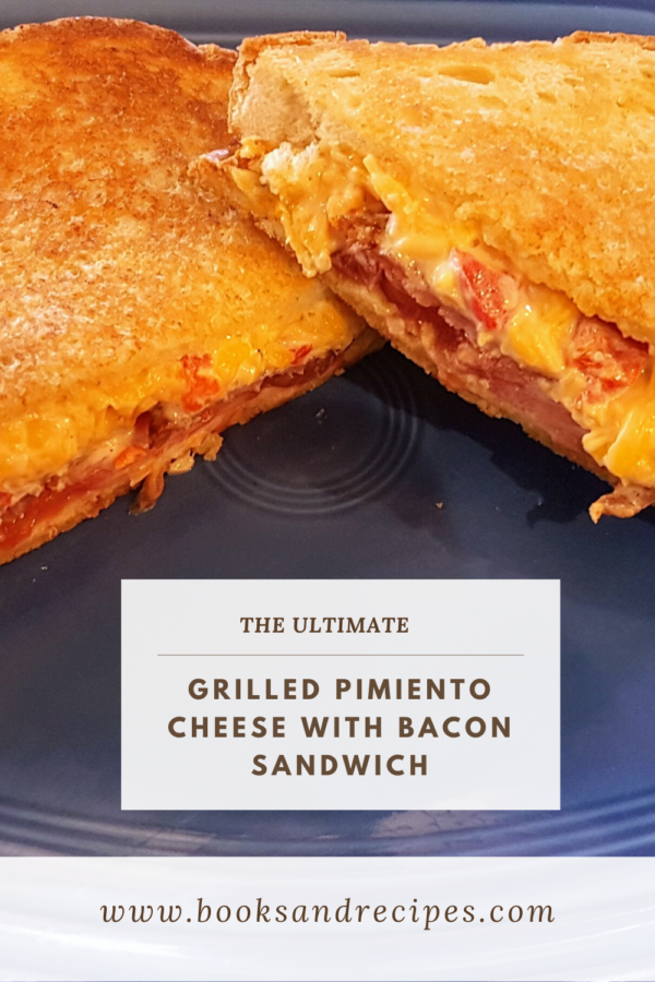 Ultimate Grilled Pimiento Cheese topped with Bacon and Tomato