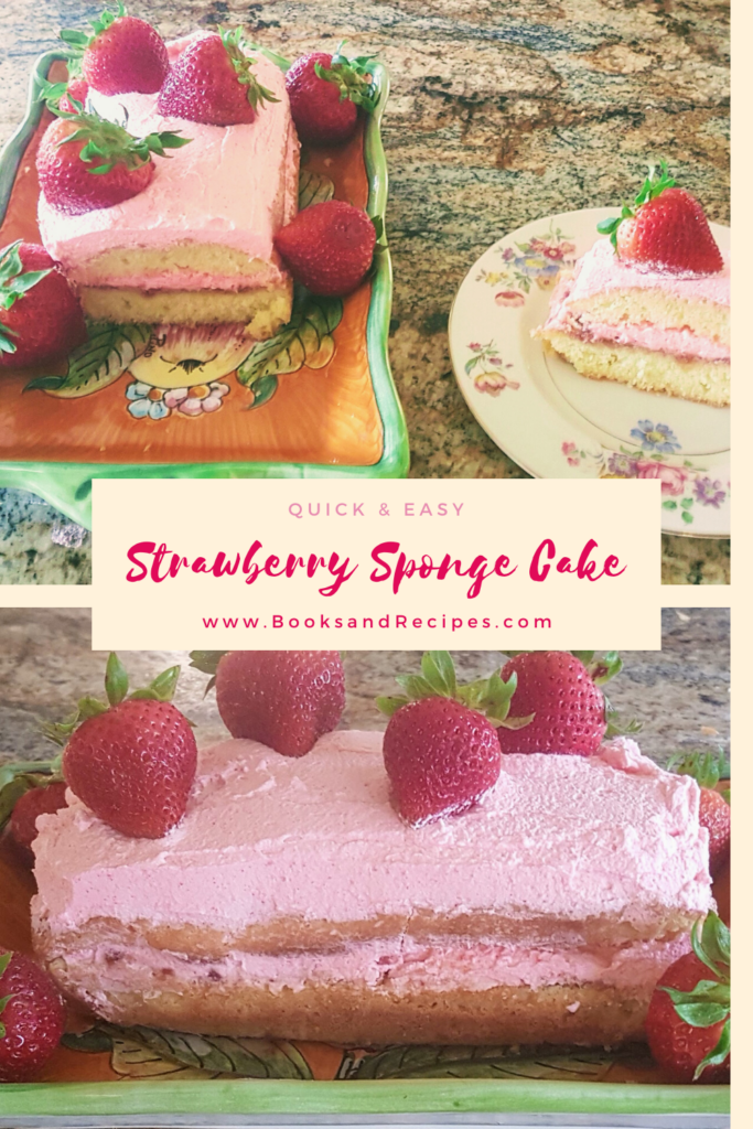 Sponge cake with strawberry whipped cream