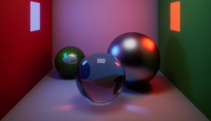 Ray tracing picture with 3 spheres