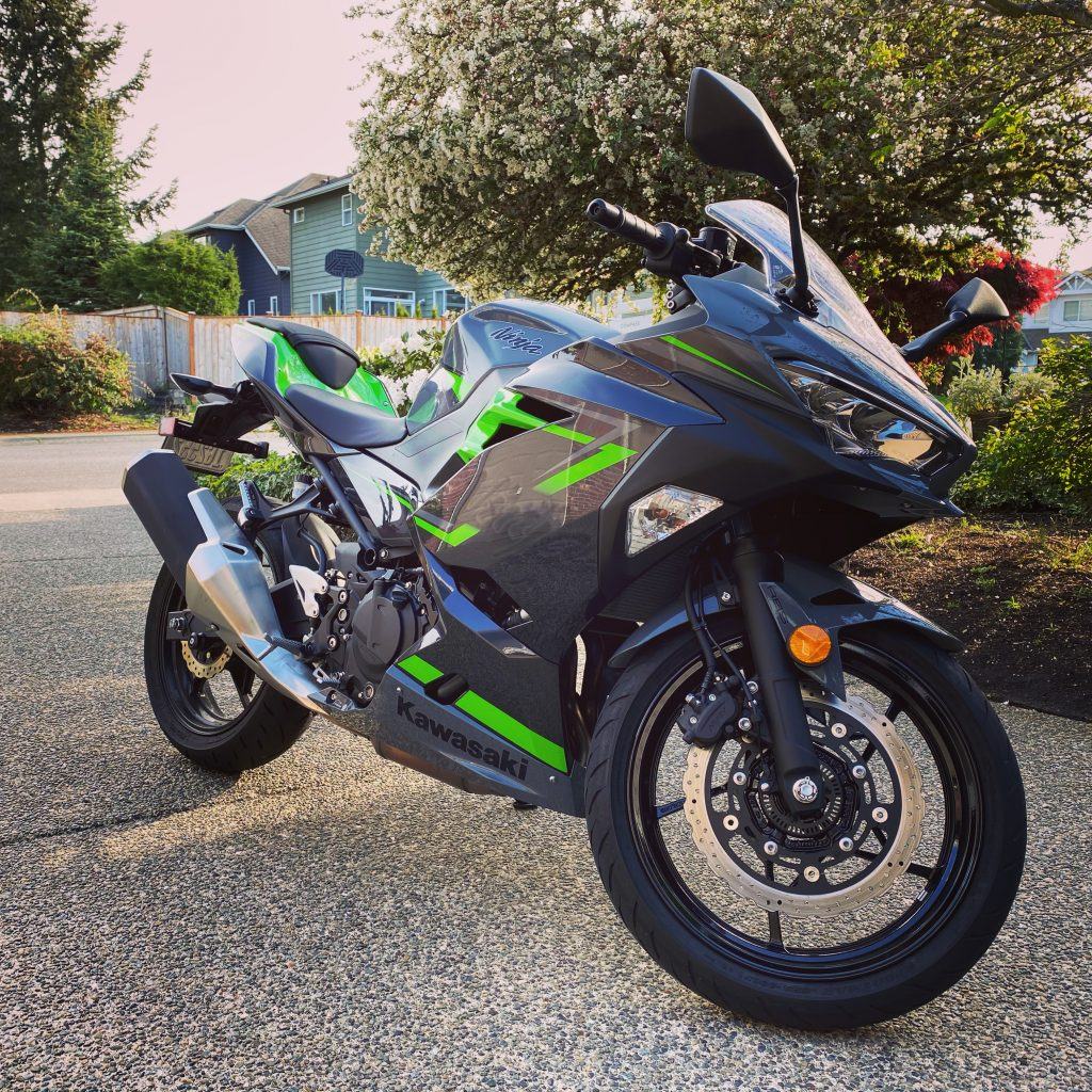 Ninja 400 standing in the drive way