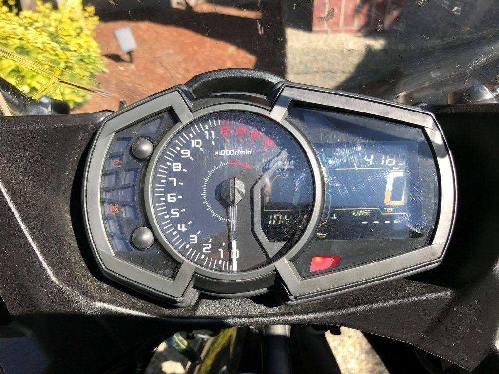 Ninja 400 dashboard