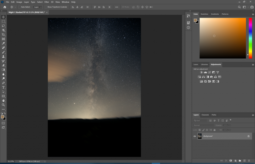 Photoshop basic processing is complete