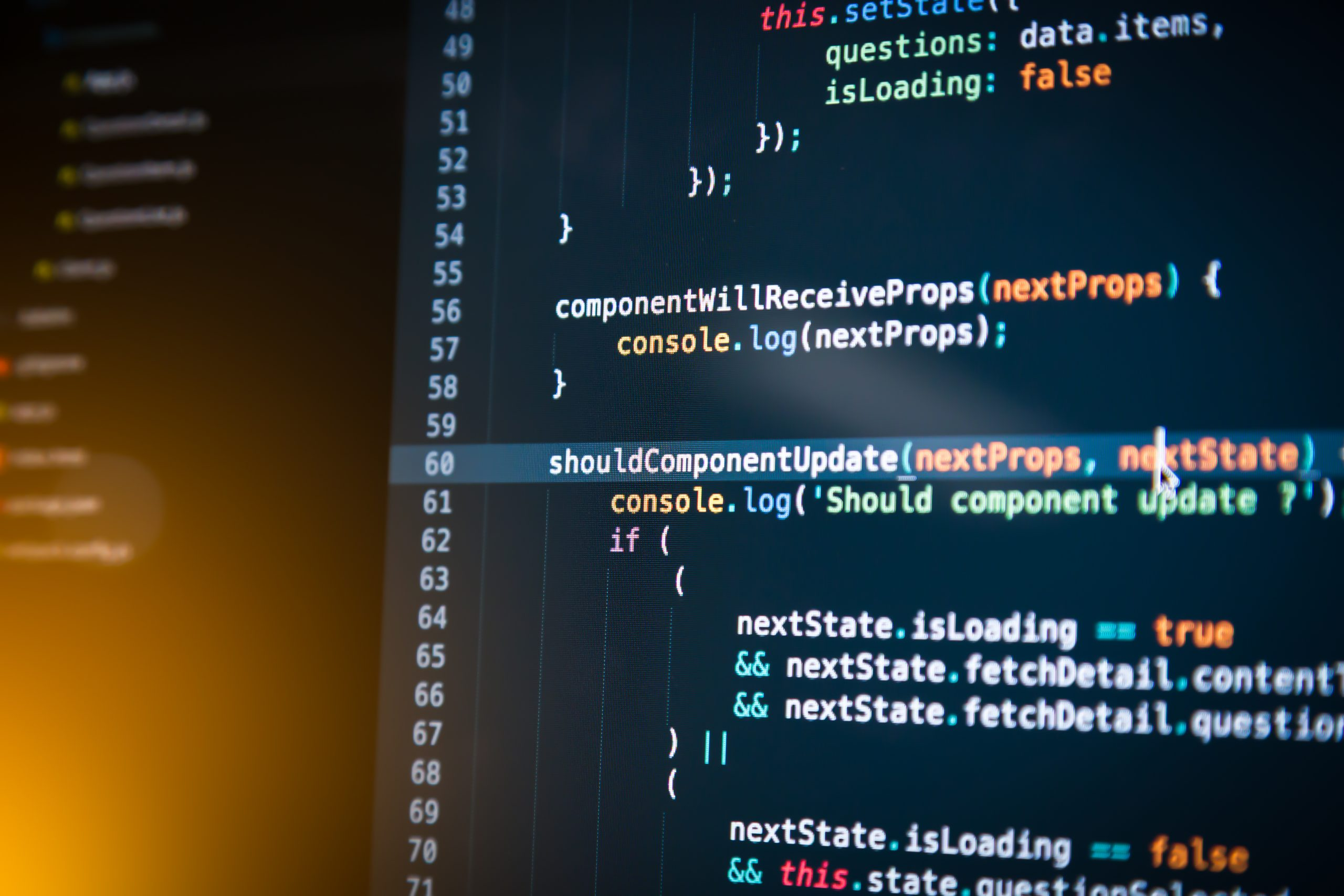 Coding in React.js – JavaScript, actions, state, and localization