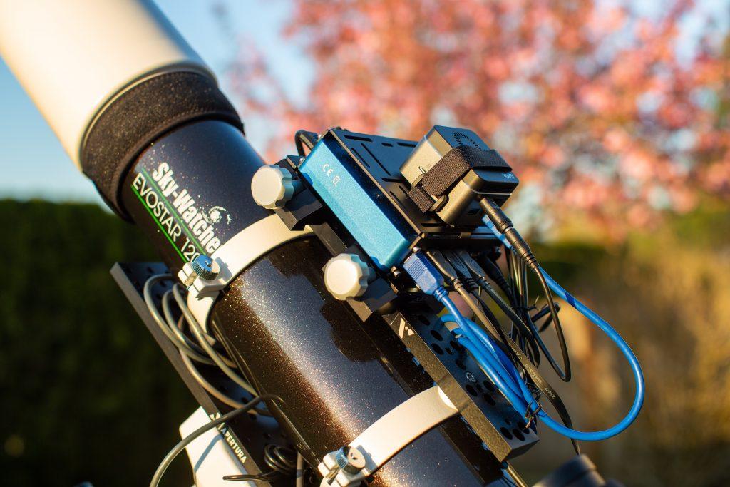 GMK NucBox mounted using Velcro