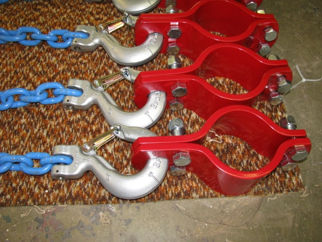 American Iron Works 4.5 inch Hose Hobble with .5 inch Crosby