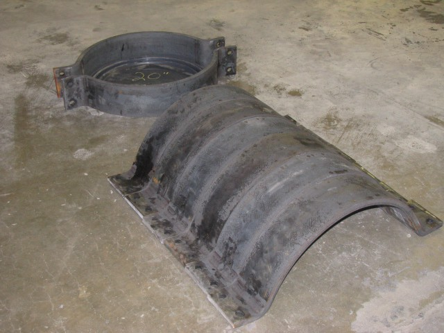 American Iron Works oilfield bare metal 20 inch pipe clamp group