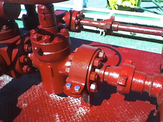 American Iron Works pipe clamp oilfield manifold