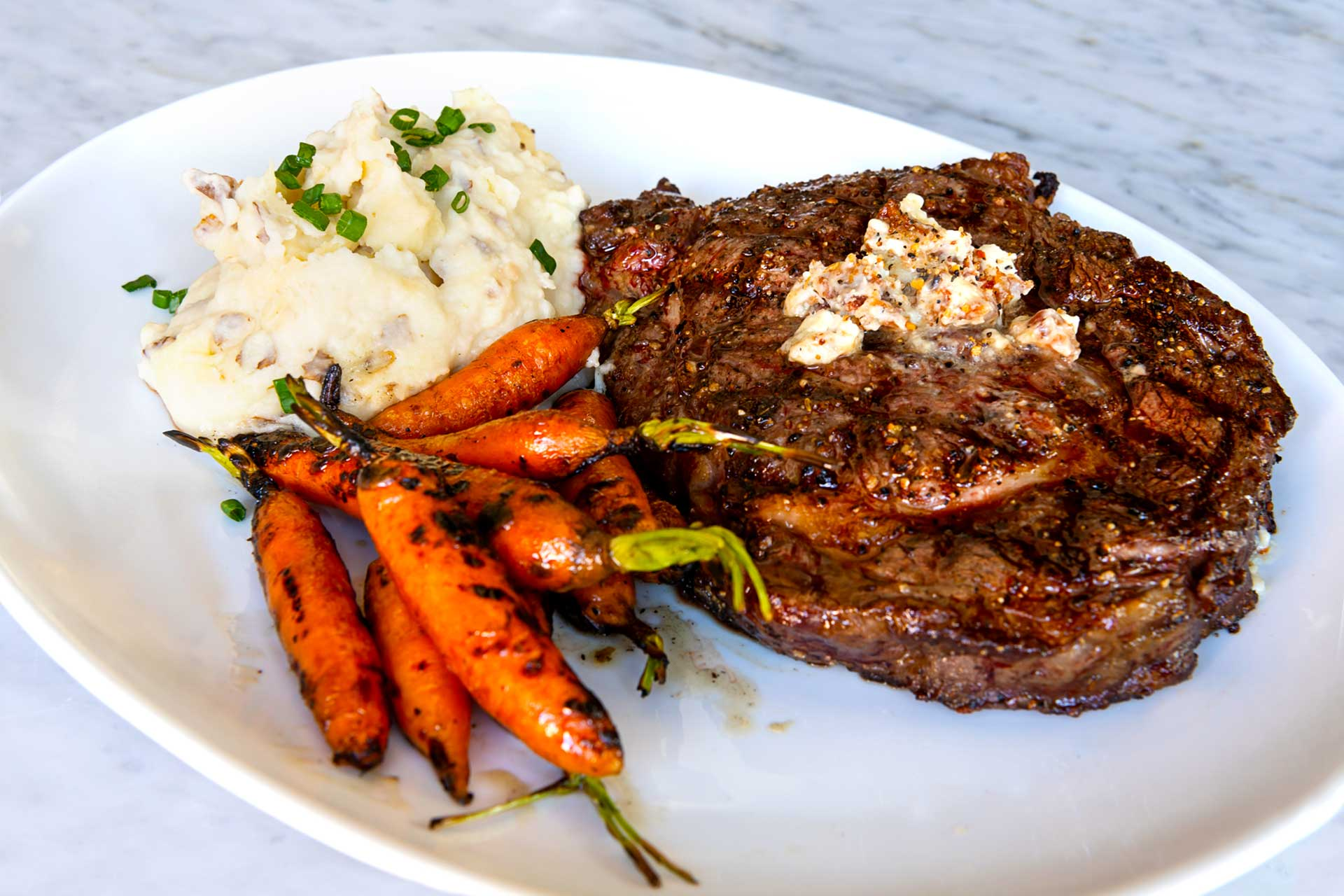 2020 Menu - Steak, Carrots, and Potatoes