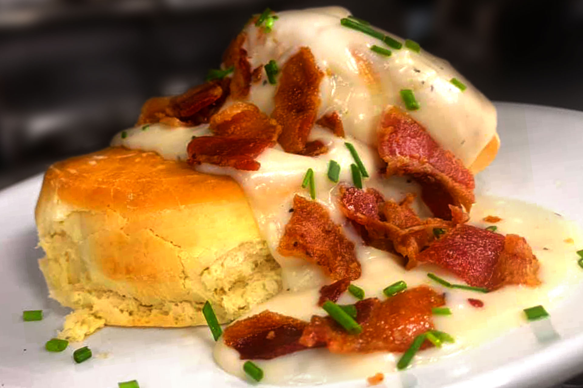 Biscuits and Gravy at 2020 Market