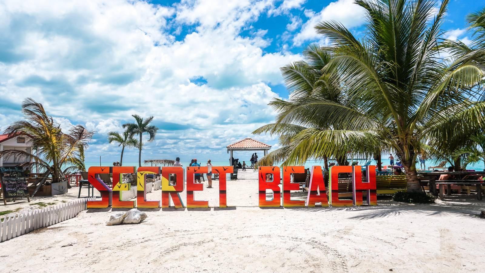 secret beach in ambergris caye belize