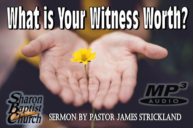 What is Your Witness Worth Sermon AUDIO