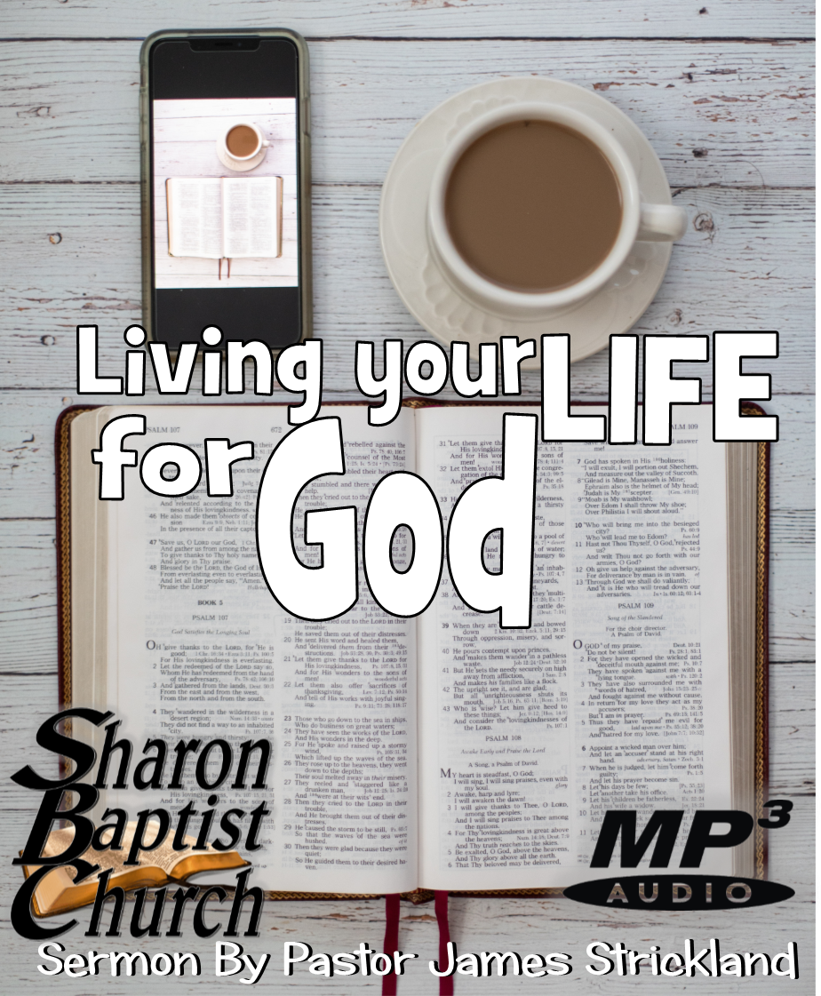 Living your Life for God Sermon AUDIO