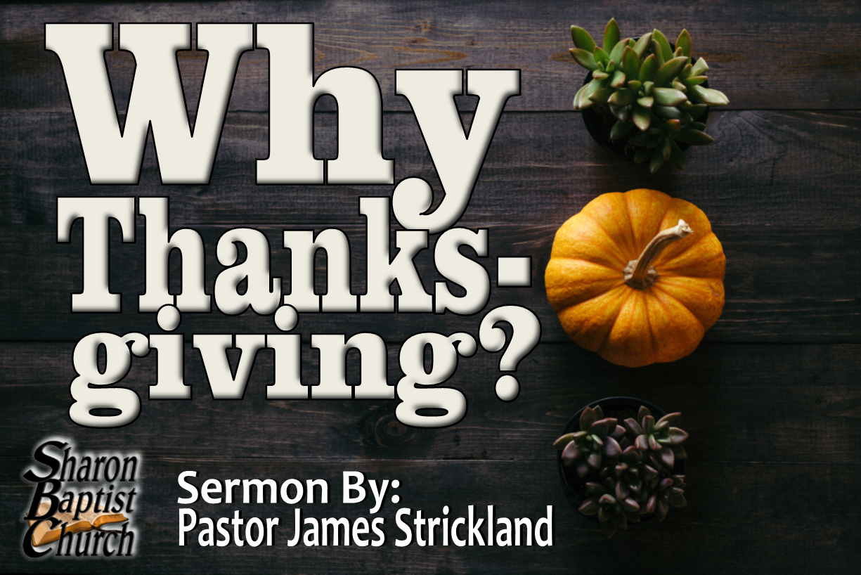 Why Thanksgiving - Sermon Cover art