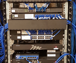 network cabling server rack