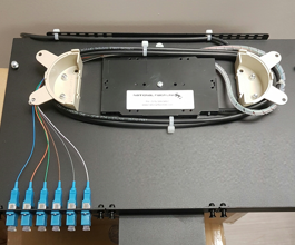 fiber optic cabling tray