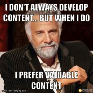 """Developing Valuable Content And Avoiding """"Filler"""""""