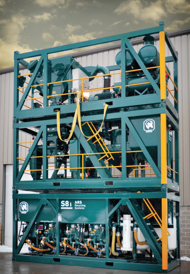 ARS Blast Machine S8I Intermodal Blast, Recovery & Recycling System