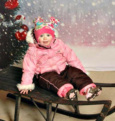 Child on sled