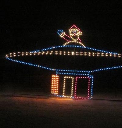Santa flying saucer