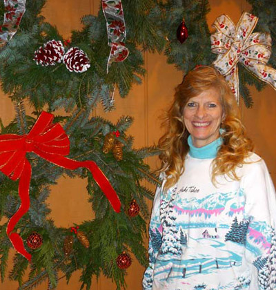 Jane with wreaths