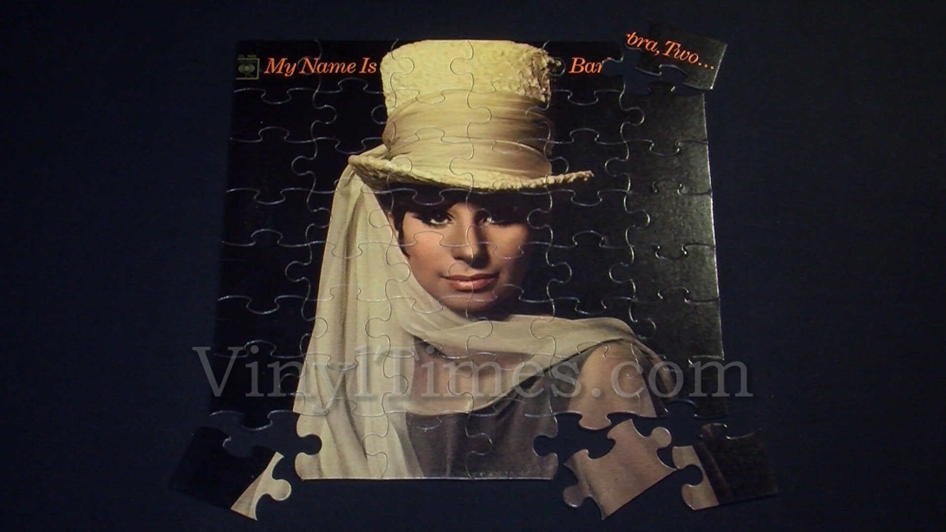 """Barbra Streisand """"My Name Is Barbra, Two"""" Album Cover Jigsaw Puzzle"""