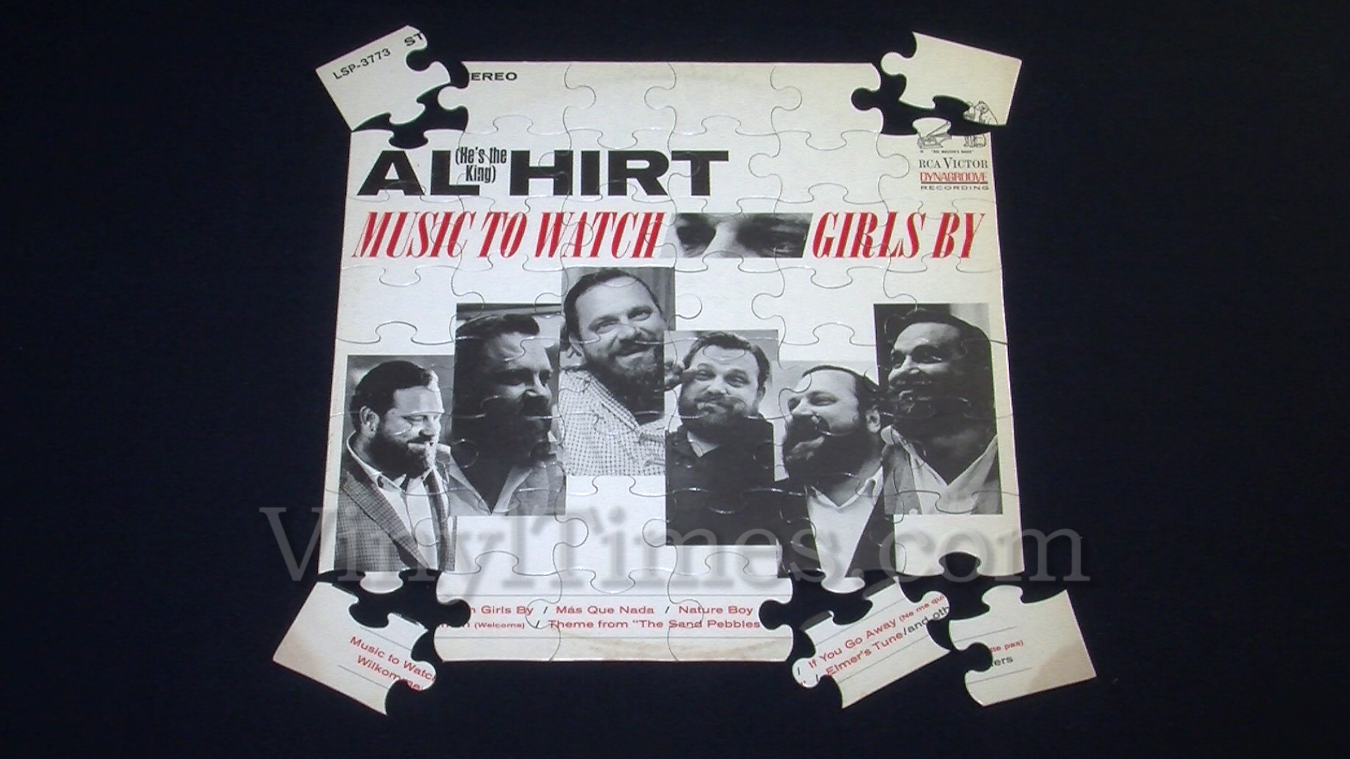 """Al Hirt """"Music To Watch Girls By"""" Album Cover Jigsaw Puzzle"""