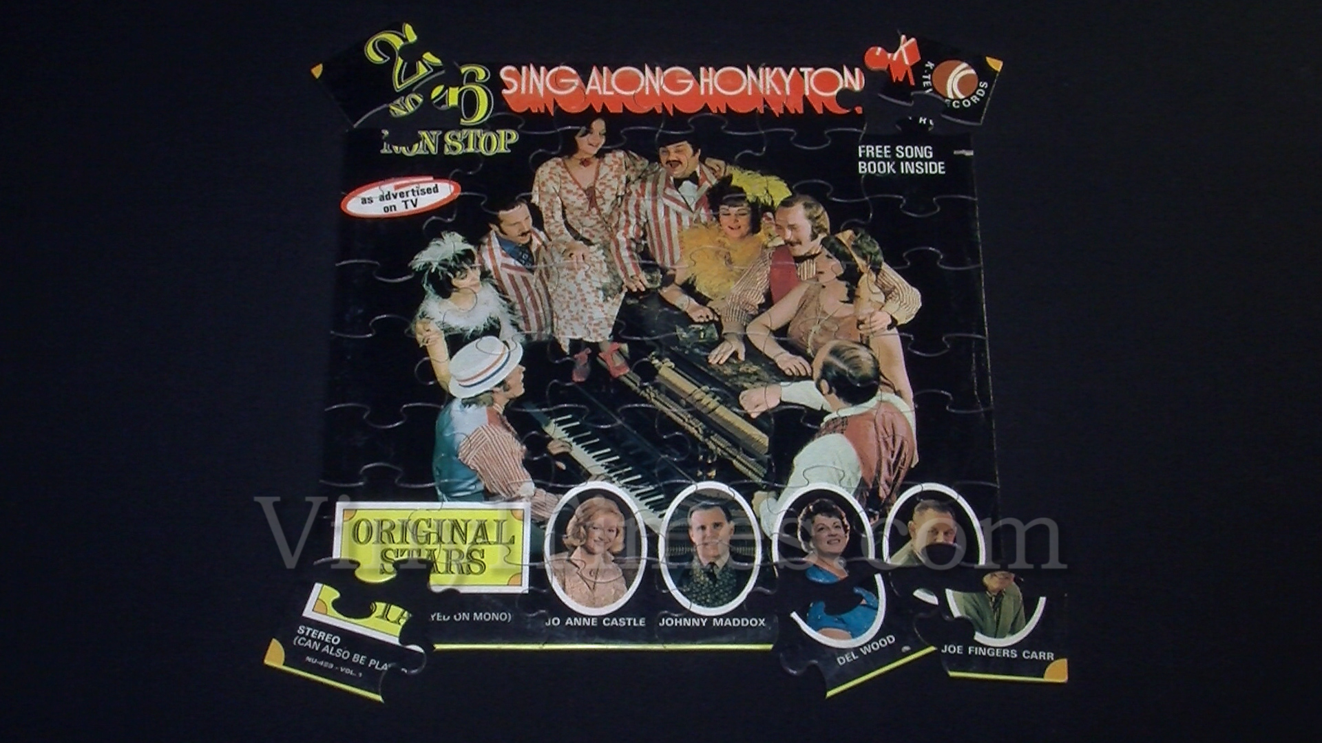 """Various Artists """"Sing Along Honky Tonk"""" Album Cover Jigsaw Puzzle"""