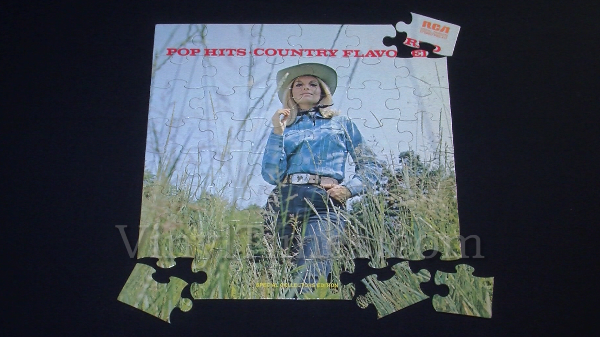 """Various Artists """"Pop Hits Country Flavored"""" Album Cover Jigsaw Puzzle"""